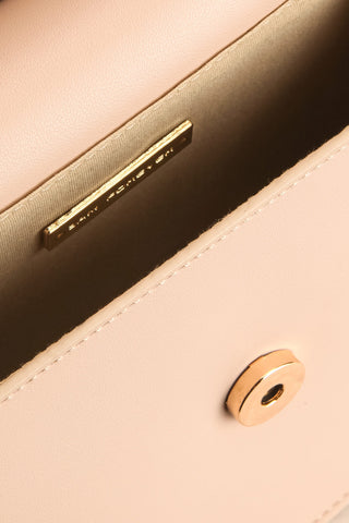 Poole Beige Rectangular Crossbody Bag inside close-up | Boutique 1861