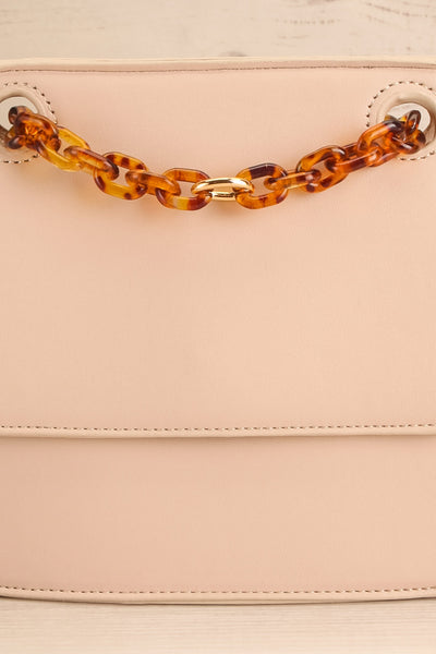 Poole Beige Rectangular Crossbody Bag close-up | Boutique 1861