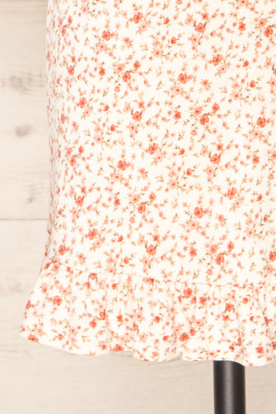 Portree Pink Floral Tied Straps Short Dress | La petite garçonne bottom