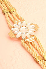 Potentille - Golden belt with crystal flower