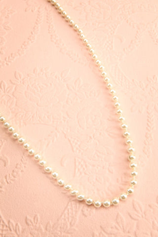 Punaluu Long Pearl Necklace | Collier | Boutique 1861 flat view