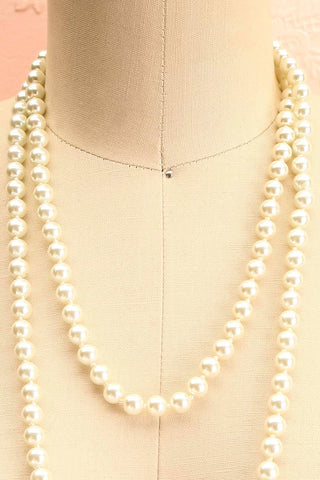 Punaluu Long Pearl Necklace | Collier | Boutique 1861 close-up