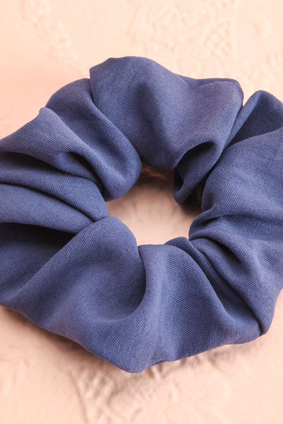Quam Blue Hair Scrunchie | Boutique 1861 close-up