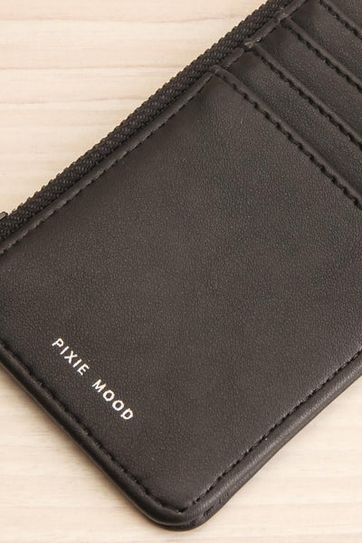 Quinn Black Vegan Leather Wallet close-up | La Petite Garçonne