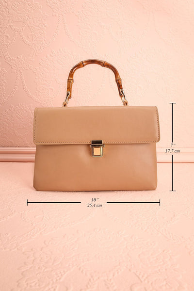 Ragga Sable Beige Purse with Bamboo Handle | Boutique 1861 9