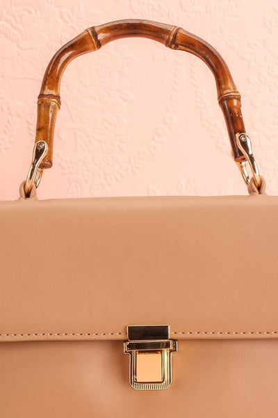 Ragga Sable Beige Purse with Bamboo Handle | Boutique 1861 3