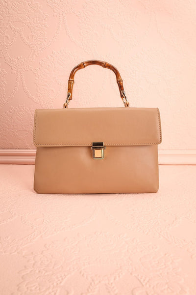 Ragga Sable Beige Purse with Bamboo Handle | Boutique 1861 1