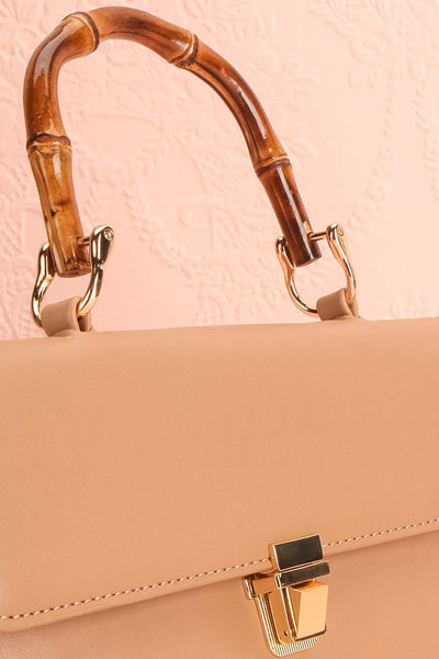 Ragga Sable Beige Purse with Bamboo Handle | Boutique 1861 6