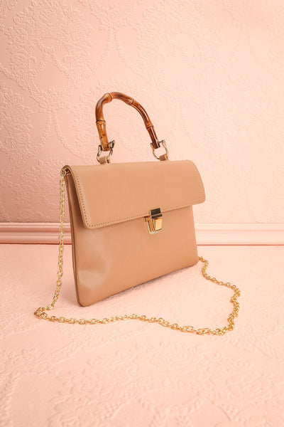 Ragga Sable Beige Purse with Bamboo Handle | Boutique 1861 5