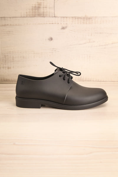 Rampal Noir Black Laced Slip-On Shoes | La Petite Garçonne Chpt. 2 side view