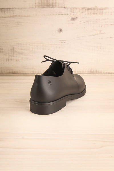 Rampal Noir Black Laced Slip-On Shoes | La Petite Garçonne Chpt. 2 back view