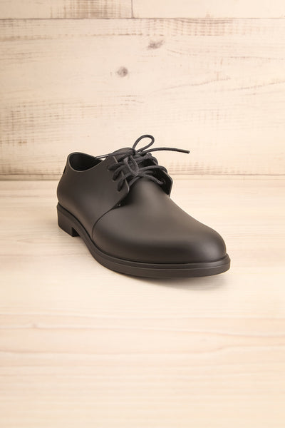 Rampal Noir Black Laced Slip-On Shoes | La Petite Garçonne Chpt. 2 front view