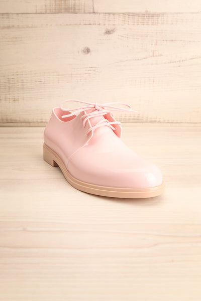 Rampal Rose Blush Laced Slip-On Shoes | La Petite Garçonne Chpt. 2 front view