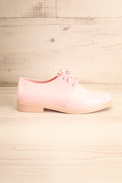 Rampal Rose Blush Laced Slip-On Shoes | La Petite Garçonne Chpt. 2 side view