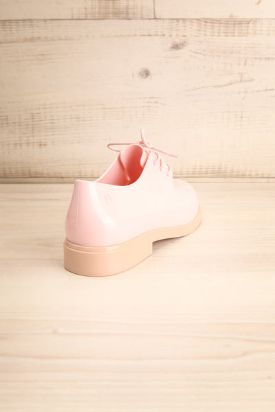 Rampal Rose Blush Laced Slip-On Shoes | La Petite Garçonne Chpt. 2 back view