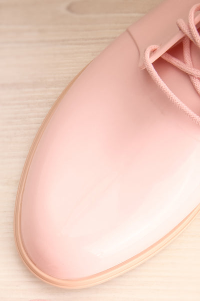 Rampal Rose Blush Laced Slip-On Shoes | La Petite Garçonne Chpt. 2 flat lay close-up
