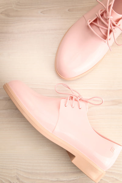 Rampal Rose Blush Laced Slip-On Shoes | La Petite Garçonne