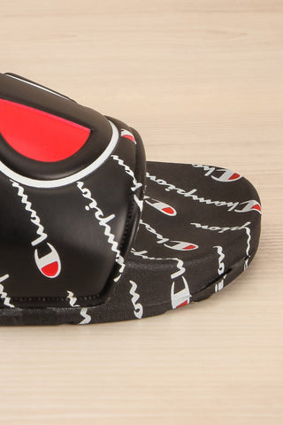 Reddo Black Patterned Sporty Slip-On Sandals | La Petite Garçonne 4