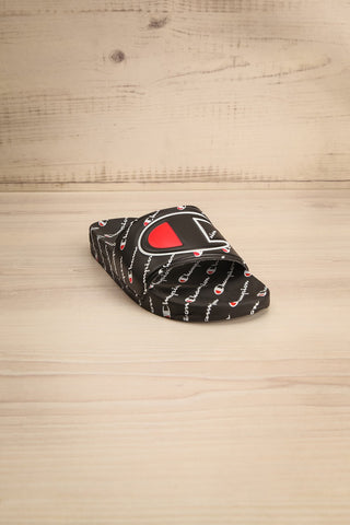 Reddo Black Patterned Sporty Slip-On Sandals | La Petite Garçonne 8