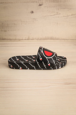 Reddo Black Patterned Sporty Slip-On Sandals | La Petite Garçonne 3