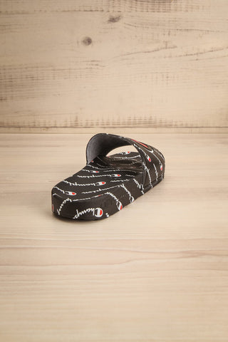 Reddo Black Patterned Sporty Slip-On Sandals | La Petite Garçonne 7