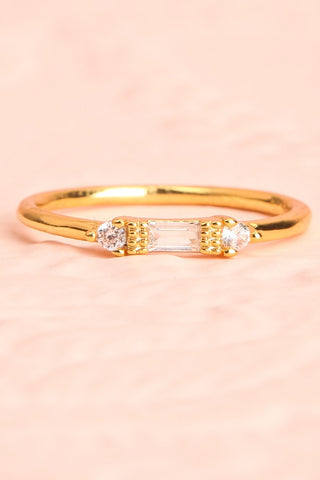 Referre Clear & Golden Minimalist Ring | Boutique 1861 3