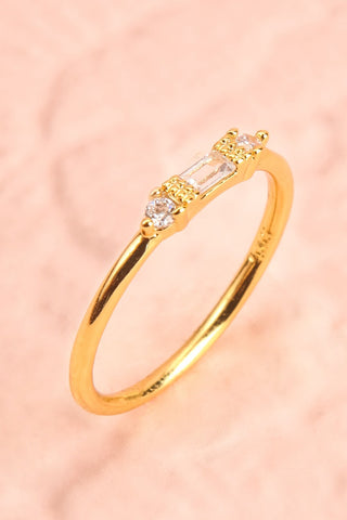 Referre Clear & Golden Minimalist Ring | Boutique 1861 5