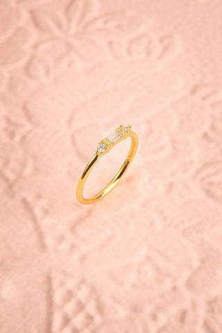 Referre Clear & Golden Minimalist Ring | Boutique 1861 1