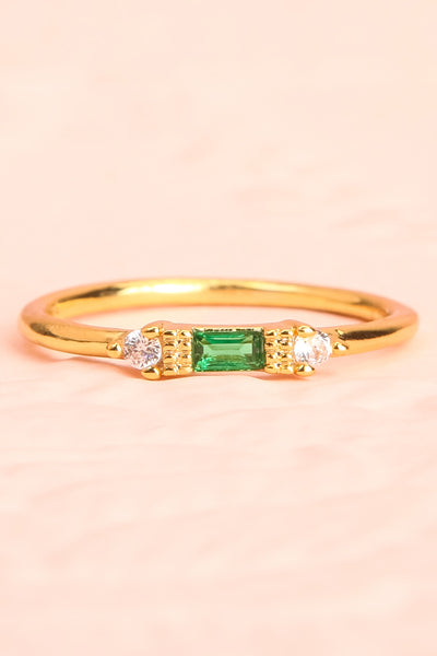 Referre Green & Golden Minimalist Ring | Boutique 1861 3