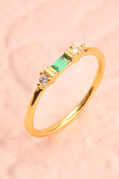 Referre Green & Golden Minimalist Ring | Boutique 1861 5