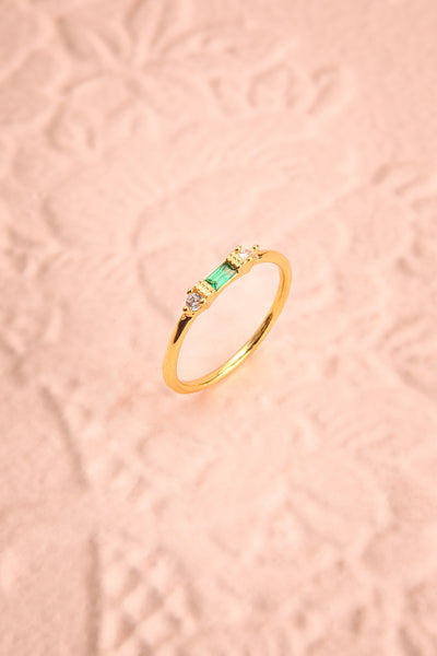 Referre Green & Golden Minimalist Ring | Boutique 1861 1