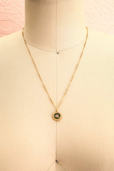 Renée Claire Golden Pendant Necklace | Fleur | Boutique 1861