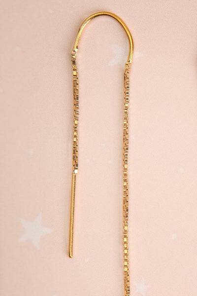 Doris Day Gold Chain & Charm Pendant Earrings | La Petite Garçonne 3