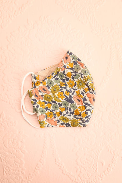 Retro Flower Face Mask | Boutique 1861 lining view