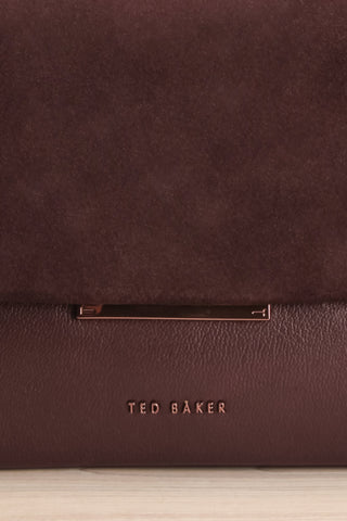 Rhoda Plum Ted Baker Leather Handbag front close-up | La Petite Garçonne Chpt. 2