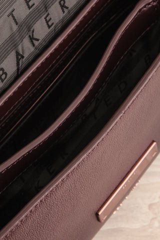 Rhoda Plum Ted Baker Leather Handbag inside close-up | La Petite Garçonne Chpt. 2