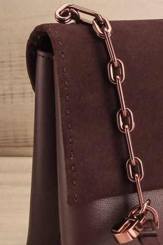 Rhoda Plum Ted Baker Leather Handbag side close-up | La Petite Garçonne Chpt. 2