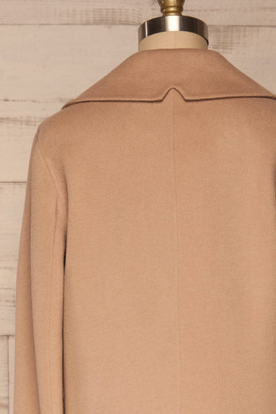 Rivio Beige Felt Coat | Manteau Beige back close up | La Petite Garçonne