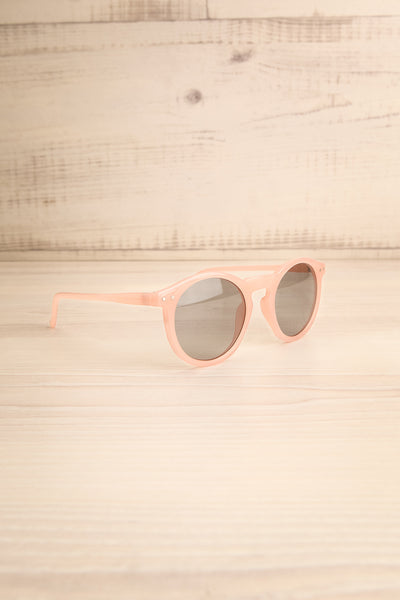 Roscrea Light Pink Wayfarer Sunglasses side view | La Petite Garçonne