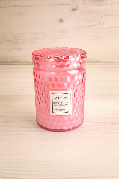 Large Textured Candle Rose Petal Ice Cream | La petite garçonne closed