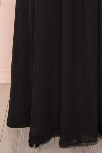 Sabira Black Maxi Dress | Robe Noire skirt | Boutique 1861