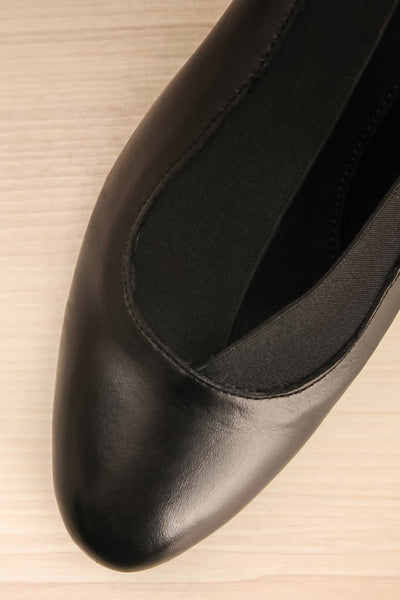 Saltara Black Leather Heels flat lay close-up | La Petite Garçonne Chpt. 2 3