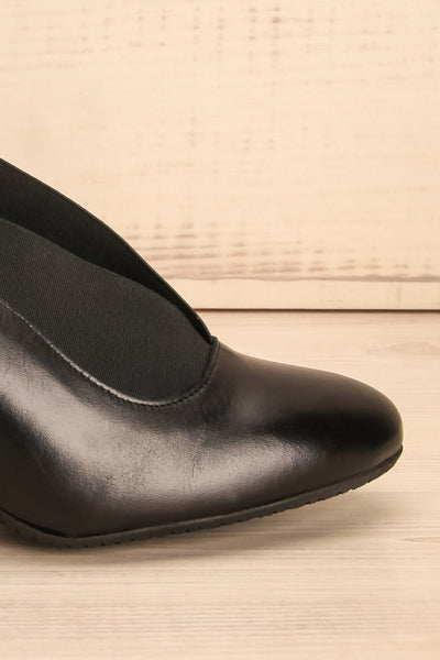 Saltara Black Leather Heels side close-up | La Petite Garçonne Chpt. 2 8