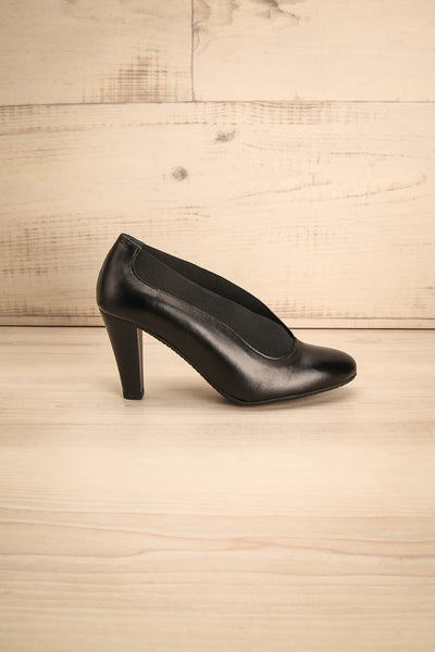 Saltara Black Leather Heels side view | La Petite Garçonne Chpt. 2 6
