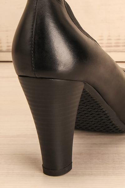 Saltara Black Leather Heels back close-up | La Petite Garçonne Chpt. 2 10