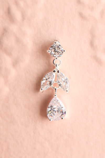 Sampita Silver Sparkling Pendant Earrings | Boutique 1861 close-up