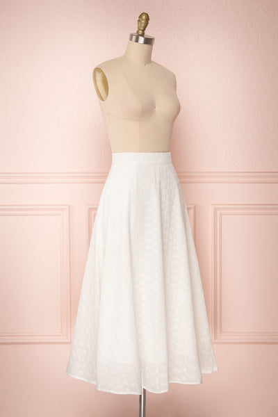 Sarika White Floral Openwork A-Line Skirt | Boutique 1861 4
