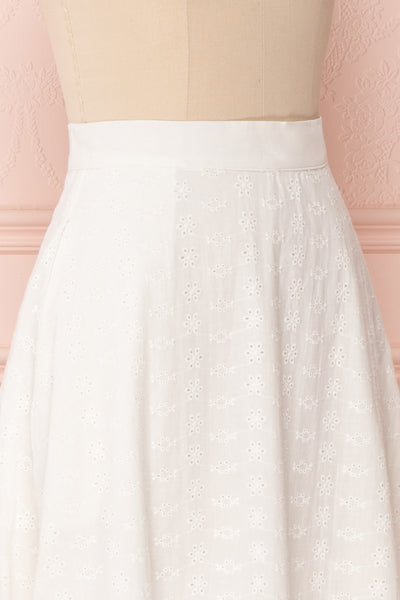 Sarika White Floral Openwork A-Line Skirt | Boutique 1861 5
