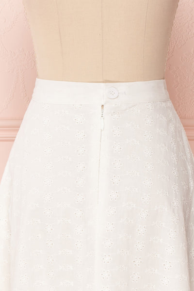 Sarika White Floral Openwork A-Line Skirt | Boutique 1861 7