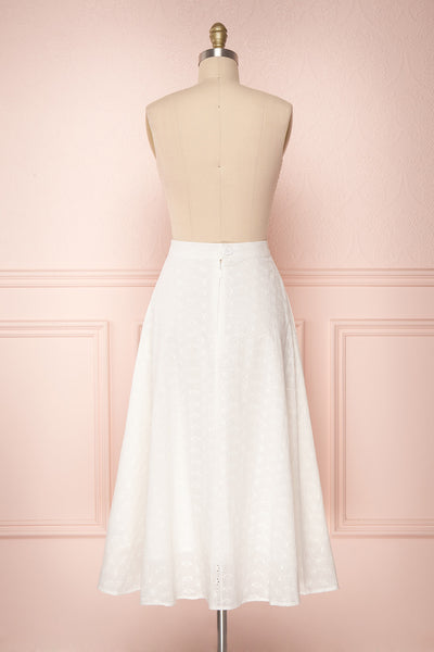 Sarika White Floral Openwork A-Line Skirt | Boutique 1861 6